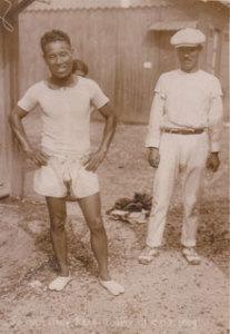 1924年に開催されたオリンピック、第8回パリ大会での金栗四三選手。