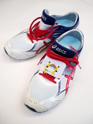 大阪マラソンを激走のマラソンシューズ